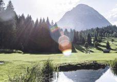 Golf mit Blick auf die Hohe Munde